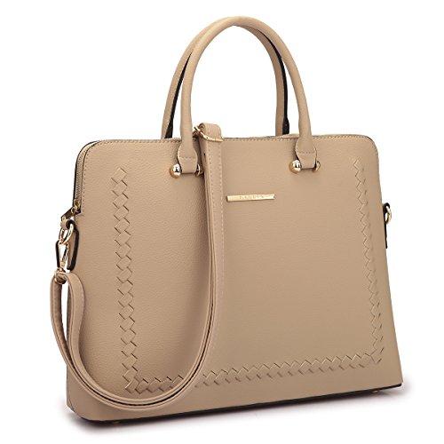 (Dasein Women's Faux Leather Purses and Handbags Shoulder Bags Satchel Top Handle Bags Work Bag)