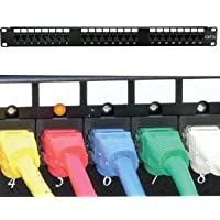 InstallerParts Cat 5E 110 Patch Panel 24 Port Rackmount w/LED Indicator