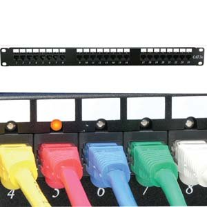 InstallerParts Cat 6 110 Patch Panel 48 Port Rackmount w/LED Indicator by InstallerParts