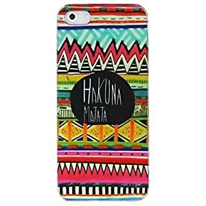 iPhone 5S Case, HugoFan Colorful HAKUNA MATATA Pattern Hard Case Cover for iPhone 5/5S