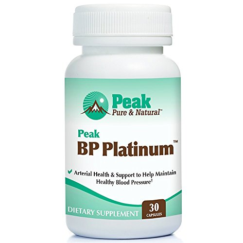 Peak BP Platinum from Peak Pure & Natural® is a Blood Pressure Supplement | Blood Pressure & Circulation | Cardio Supplement for Heart Health | MegaNatural®-BP Grape Seed l 30 -