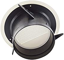 SDTC Tech 4 Inch Round Air Vent ABS Louver Grille Cover with Built-in Fly Screen Mesh Detachable Soffit Air Exhaust Vent for Bathroom Kitchen Bedroom Office
