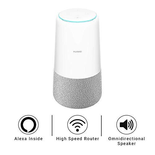 Huawei AI Cube - 4G LTE Home Broadband Alexa Enabled, Smart Speaker (White/Grey)