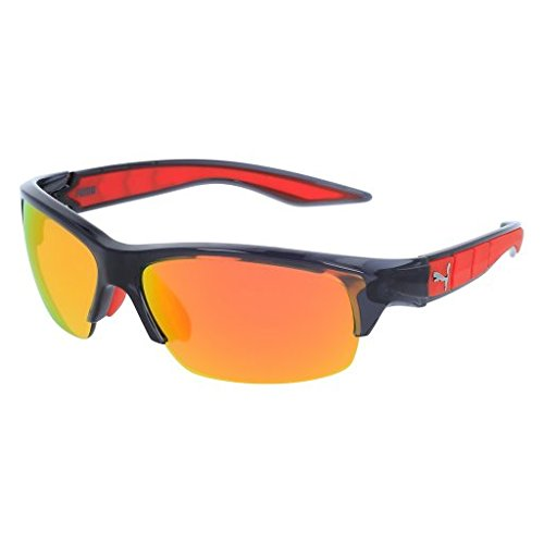Sunglasses Puma PU 0055 S PU 0055 55 S S 55 004 GREY / ORANGE / - Puma Men For Sunglasses