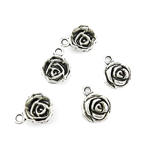 5 Pieces Jewelry Making Charms JHME08 Ro - Rose Charms Shopping Results
