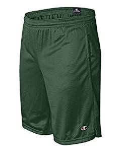 Champion 3.7 oz. Long Mesh Shorts with Pockets L ATHLETIC DARK GREEN