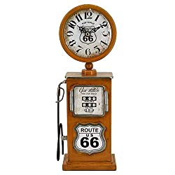 Yosemite Home Decor Route 66 Distressed Yellow Table Top Clock