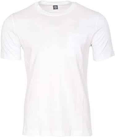 Eleventy Camiseta Hombre Blanco Slim Fit algodón Casual M: Amazon ...