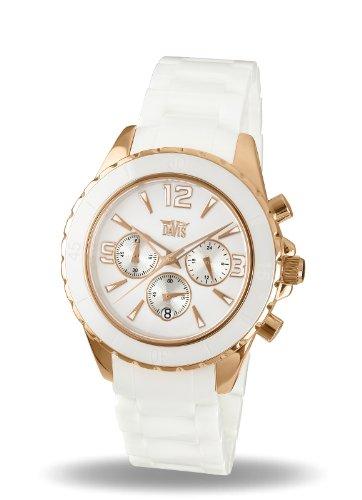 0fc3b211f9d5 Davis 1871 - Reloj Deportivo Mujer Cerámico Cronógrafo Sumergible 50M  Cristal de Zafiro Correa Cerámico  Amazon.es  Relojes