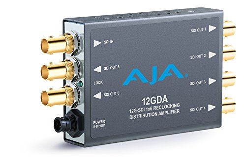 Sd Sdi Distribution Amplifier - AJA 12GDA 12G/6G/3G/HD/SD-SDI Distribution Amplifier