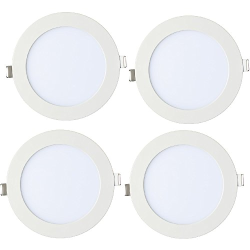 Ainfox 12W 4PCS Aluminum LED Recessed Light Ceiling Panel Down Light Bulb Lamp (Clear white 6000k) (Low Profile Led Can Lights compare prices)