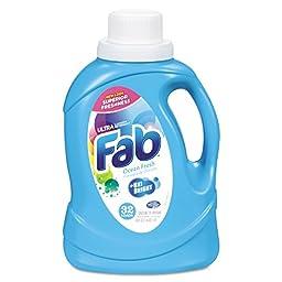 Fab PBC 37155 Ultra 2X Liquid Laundry Detergent, Ocean Breeze, 50 oz. Bottle (Pack of 6)