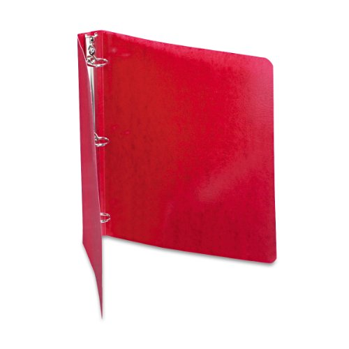 ACCO Presstex 1 Inch Ring Binder, 8.5 x 11 Inch Sheet Size, Executive Red (A7038619-C) (Red Binders Executive)