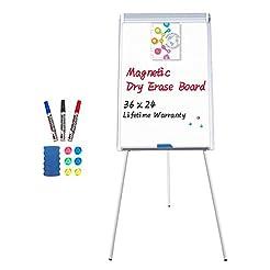Easel White Board - Magnetic Tripod Whit...