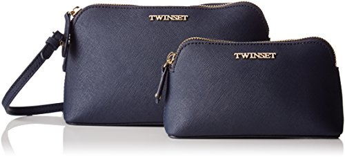 Twin Set Aa7pdx, Pochette da Giorno Donna, 7x13x22 cm (W x H x L) Blu (Blue Black)