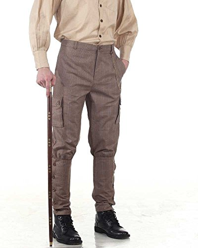 Checkered Pants Costume (Steampunk Victorian Costume Airship Pants Trousers -Checkered)