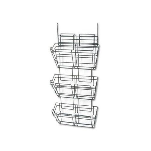Safco - Panelmate Triple-File Basket Organizer 15 1/2 X 29 1/2 Charcoal Gray ''Product Category: Desk Accessories & Workspace Organizers/Wall & Panel Organizers'' by Safco