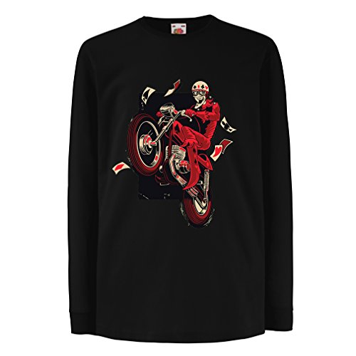 T-Shirt for Kids Motorcyclist - Motorcycle Clothing, Vintage Designs Retro Clothing (7-8 Years Black Multi Color)