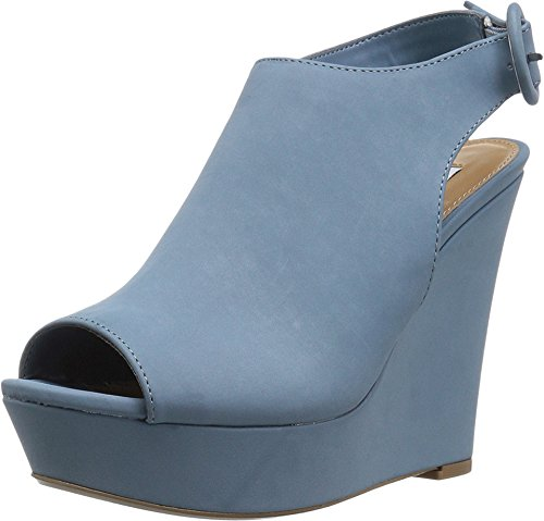 Light Slingback Open Extinct Blue Toe Womens Steve Wedge Heels Madden 84wfqnnZ