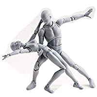 Lookvv Body-Chan Model,Drawing Figures Artists Action Figure Human Mannequin Accessories Kit for Sketching, Painting, Artist