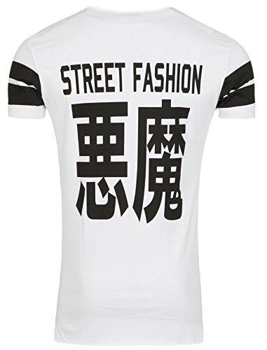 Young & Rich Herren T-Shirt Perfect und Chinesische Zeichen Street Fashion Style und Design (L)