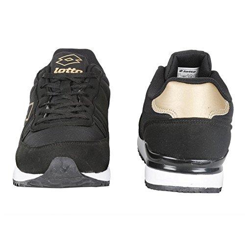 Lotto Men Rochester Leisure Black/Golden Shoes 9