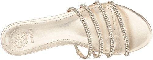 para Riley Guess Flat mujer Gold Sandal F8PpSHwq6