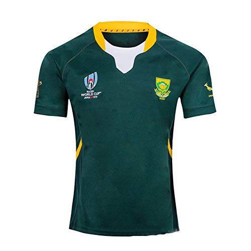 Rugby Jersey Fan T-Shirts South Africa Home/Away Hombres Deportes Secado rápido de Manga Corta World Cup Fútbol…