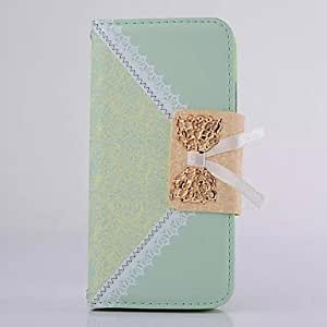 MOM Lovely Lace Pattern Flip Wallet Leather Cover for iPhone 6(Assorted Colors) , Light Pink