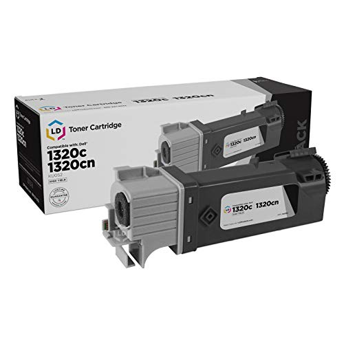 LD © Dell 1320c / 1320 Black Toner - Compatible Replacement for Dell KU052 (310-9058) High Yield Laser Toner Cartridge (Dell Dt615)