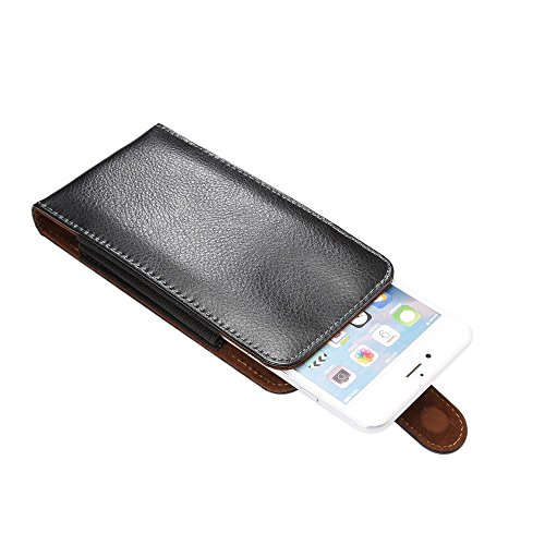 "DFV mobile - Magnetic Genuine Leather Holster Executive Case belt Clip Rotary 360º for =>      APPLE IPHONE 6 PLUS [5,5""] > Black"