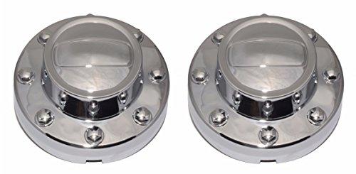 BB Auto Pair of 2 New Rear Alcoa Alloy Wheel Chrome Center Caps Replacement for 2011-2016 Dodge Ram 3500 1-TON Dually DRW -