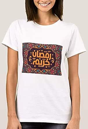 تي شيرت مع تصميم للنساء, رمضان مقاس 13
