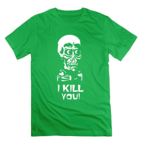 Memoy Men's Jeff Ventriloquy Skull T Shirt Trendy XL ForestGreen