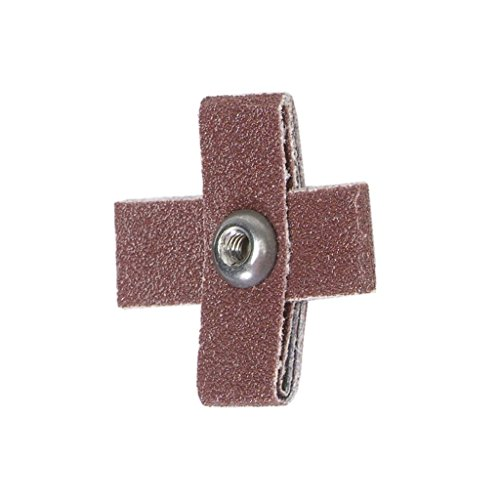 PART NO. 8834184402. CROSS PADS SIZE IS LENGTH X WIDTH X THICKNESS 2-1/4 X 2-1/4 X 1/2 80 GRIT MERIT ALUMINUM OXIDE 8 PLY by Merit