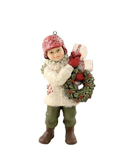 Bethany Lowe A Child's Christmas Delivery Danny Boy Wreath Gifts Ornament