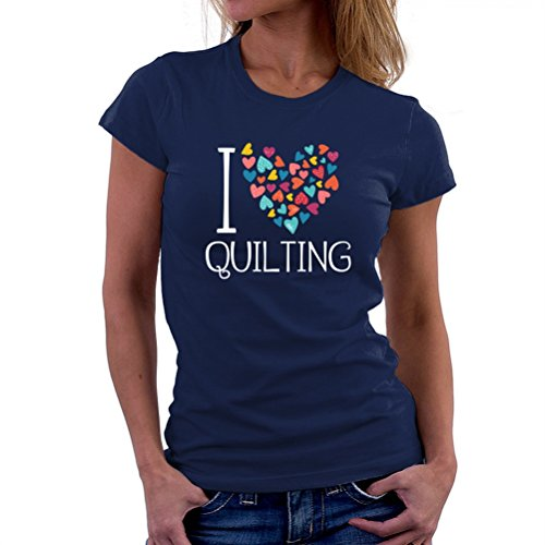 I love Quilting colorful hearts T-Shirt