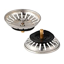 XCSOURCE 2pcs Universal Stainless Steel Kitchen Sink Strainer Drain Basket Replacement HS889