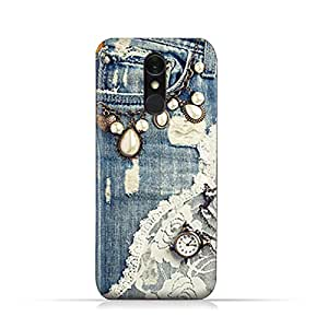 AMC Design LG Q7 TPU Silicone Protective case with Modern Jeans Pattern