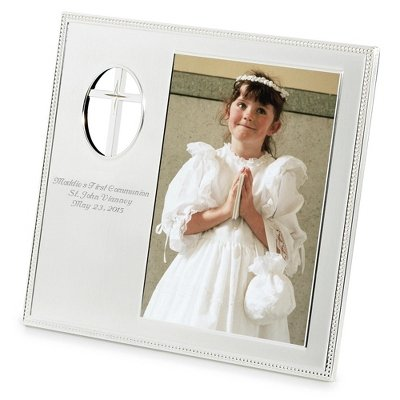 - Things Remembered Personalized Cross Cutout 5 x 7 Frame, Religious Cross Picture Frame with Engraving Included