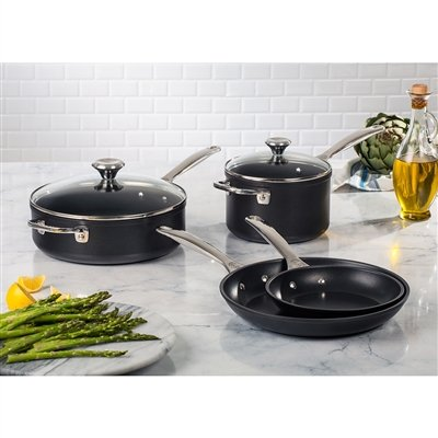 Le Creuset 6pc NonStick Toughened Steel Cookware Set Pots & Pans Deal (Large Image)
