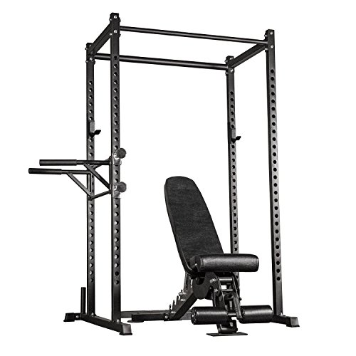 Rep Power Rack – PR-1000 – with Adjustable Bench AB-3000 and Dip Attachment