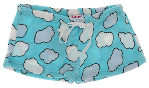 Emme Jordan Junior's Fuzzy Plush Pajama Shorts (Small, Cloud Nine) ()