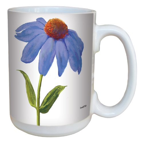 (Tree-Free Greetings lm43710 Lilac Colored Daisy by Nel Whatmore Ceramic Mug, 15-Ounce)