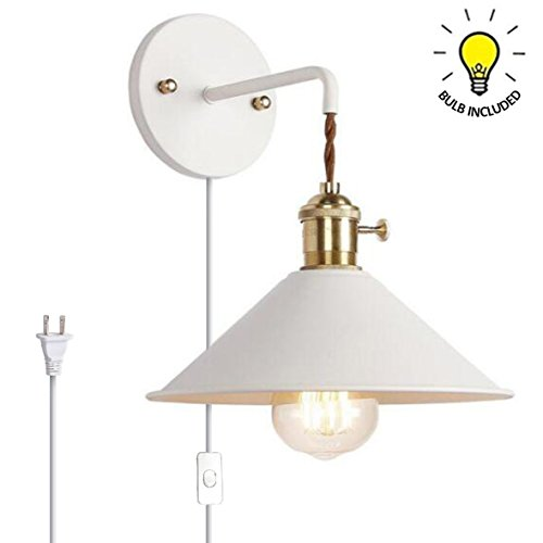 Kiven Nordic Wall Sconce One Cable(Mains Plug And On/off