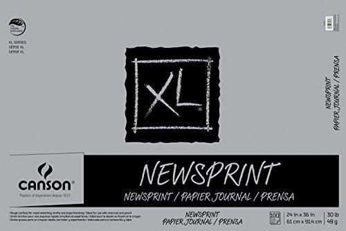 Canson Biggie 24 x 36 Inches Newsprint Sheet Pad (Biggie Pads)