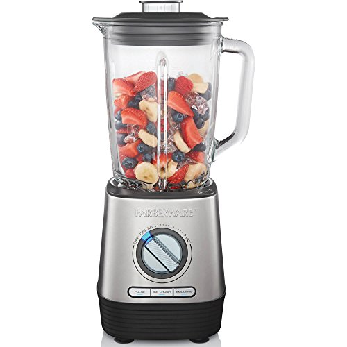 FARBERWARE HIGH PERFORMANCE BLENDER WITH LARGE 48-OZ GLASS JAR . 3 PRESET PROGRAMS. DISHWASHER SAFE LID AND JAR . VARIABLE SPEED DAIL LETS YOUR CONTROL THE BLENDING ( BPA FREE GLASS JAR) (Bella Cucina 17 Piece Rocket Blending Set)