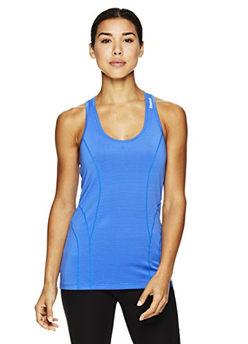 Blue Womens Fitted Tank Top - Reebok Women's Dynamic Fitted Performance Racerback Tank Top- Palace Blue/Blue, Small
