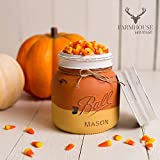Cheap Mason Jar Candy Corn Dish | Fall Mason Jar Decor | Fall Candy Corn Bowl | Country Halloween Decor | Rustic Fall Decor | Fall Farmhouse Decor | Shabby Chic Fall Decor | Vintage Fall Decor