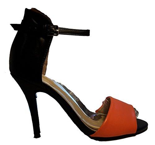 w hohenlimburg Schwarz orange 3 Bout Femme Ouvert 6nFOqxfdxw